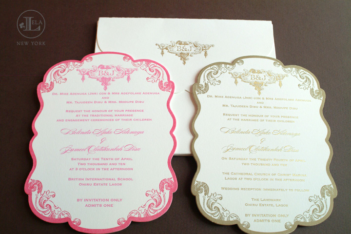 Lagos Wedding Invitation for Belinda & Jameel