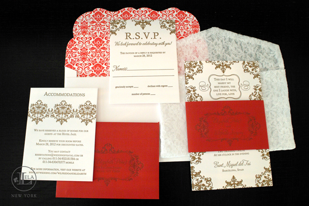 Spanish Lace Invitations | Elizabeth & Wilfredo