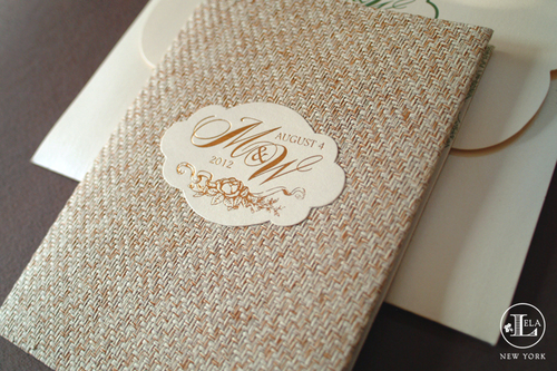 Luxe fabric invitations lela new york luxury wedding invitations hamptons wedding invitation melanie willis stopboris Choice Image