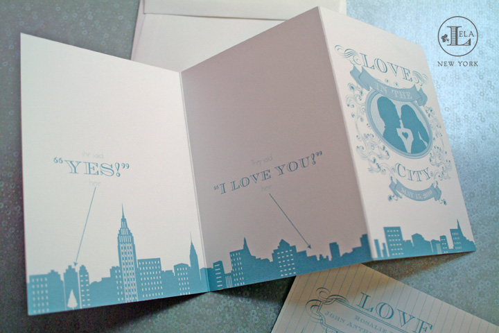 NYC Skyline Wedding Invitation | Rosalie & John