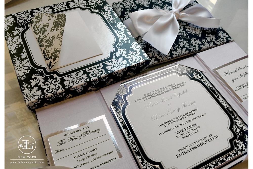 Designs lela new york luxury wedding invitations uae luxury wedding invitation maria robert stopboris Gallery