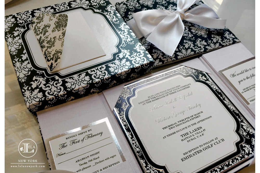 Dubai Wedding Invitation | Maria & Robert