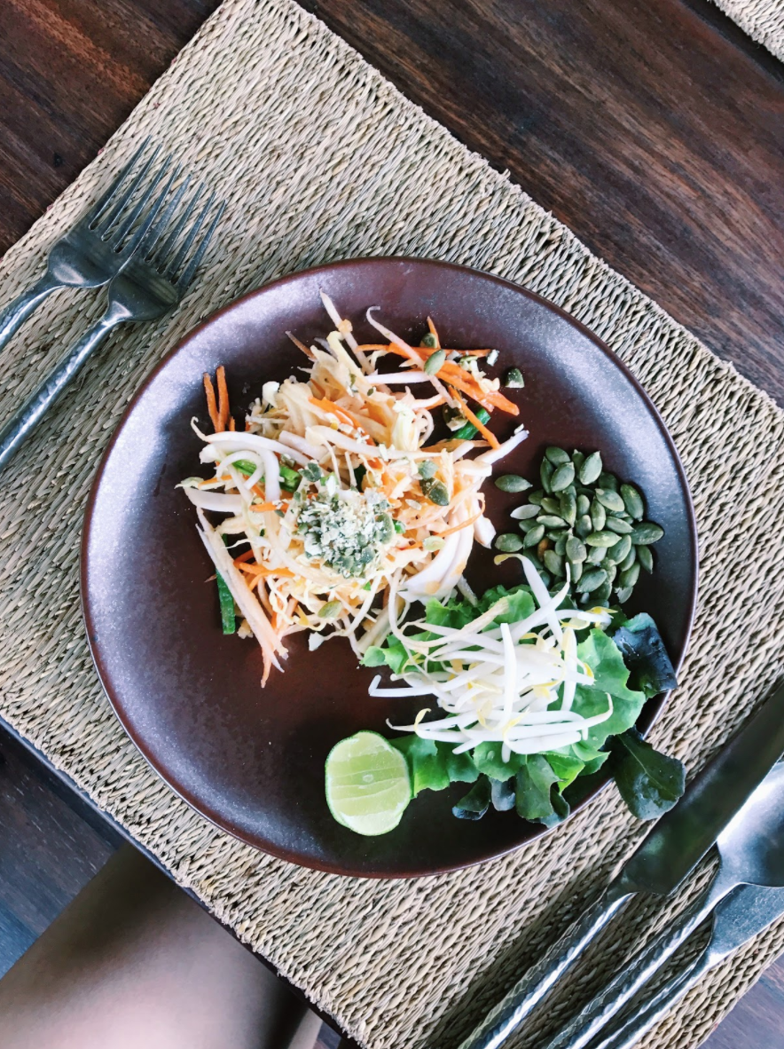 Raw pad thai from detox menu