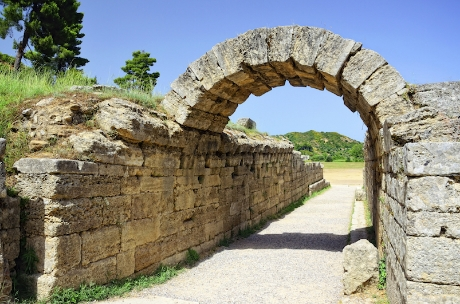 The entrance to the ancient Olympic stadium at Olympia in Greece. ©iStock images.