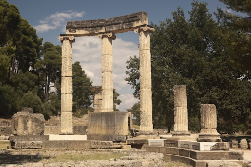 Ruins of a temple at Olympia the site of the ancient Olympic Games ©iStock images