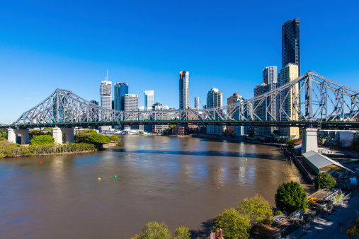 Story Bridge was designed by John Bradfield who also designed the Sydney Harbour Bridge Getty Images
