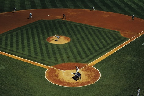 A baseball field is diamond shaped. There are four bases, one at each corner of the field.©iStock
