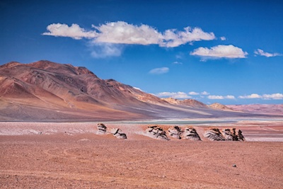 Atacama Desert, which is along west cost of Chile, Peru, Bolivia and Argentina in South America ©Getty Images