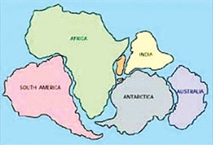 If the continents were a jigsaw puzzle, you could see how they had once fitted together as one supercontinent