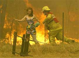 Firefighter must be well trained and have good plans for fighting a bushfire.