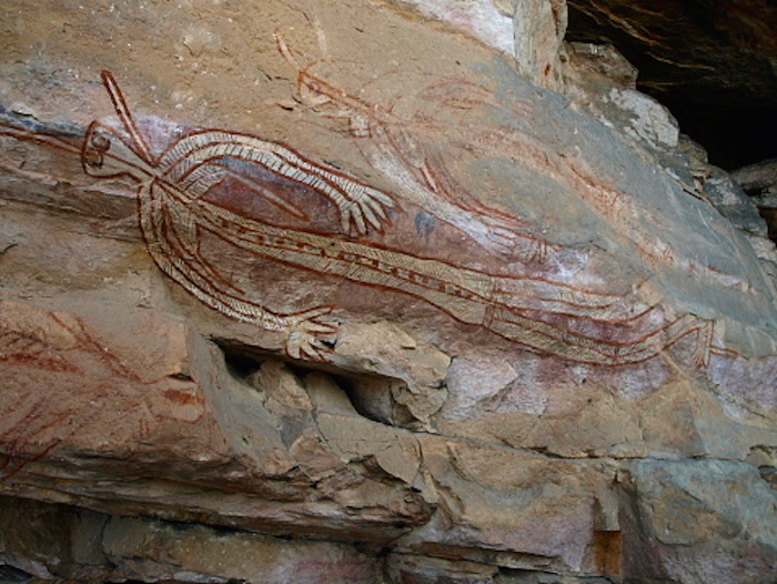 Aboriginal people recorded their history in rock paintings like this. Getty Images