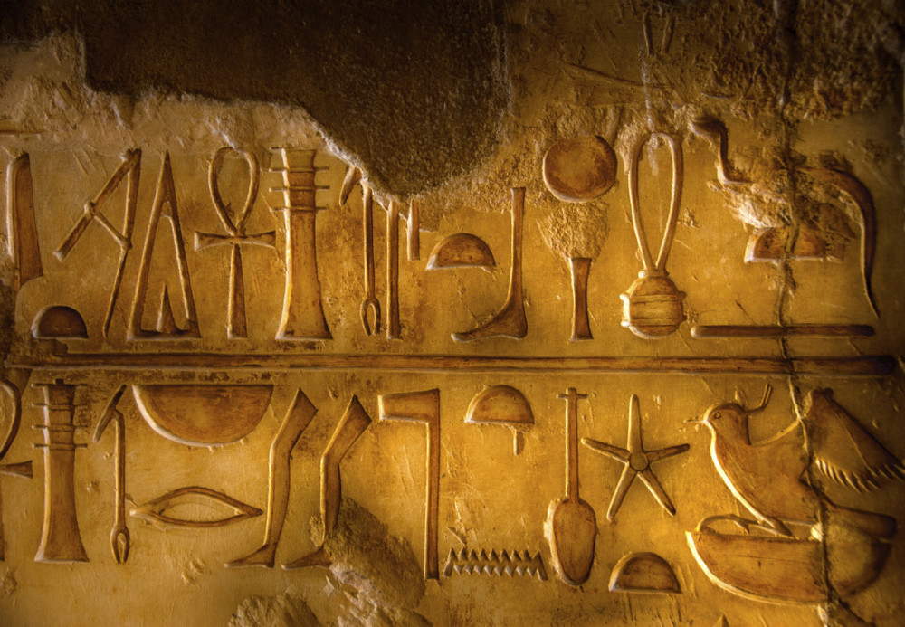 The ancient Egyptians carved symbols to represent words. ©Getty Images