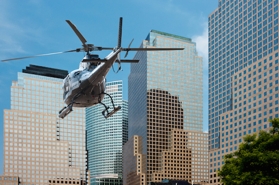 Modern helicopters carry passengers in and around cities.©Getty Images