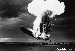 When the Hindenburg exploded, 37 people died.