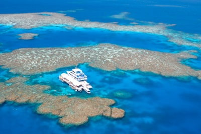 Tourism boat on the Reef ©Getty Images