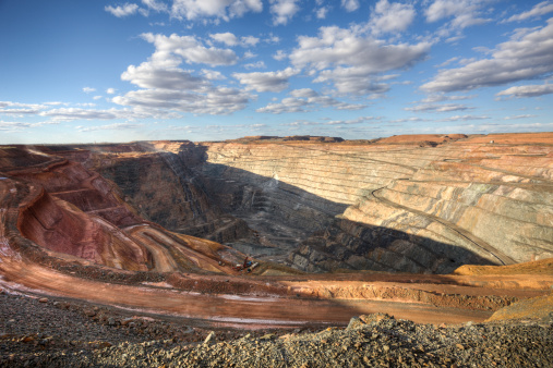 Open-cut mining is used to get gold, silver and platinum out of the earth. Getty images