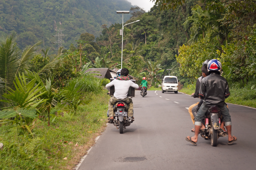 Motorcycles are a very popular form of transport all over Indonesia. iStock