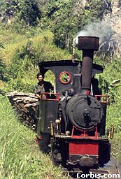 Steam trains like this are used to transport agricultural goods in country areas on the island of Sumatra.