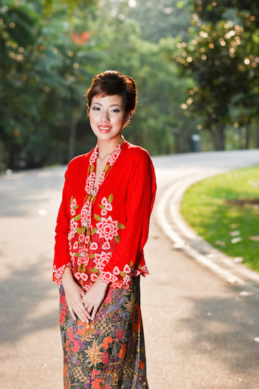 The kebaya is formal dress for many Indonesian women
