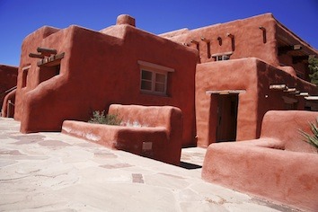 A modern adobe house©kidcyber