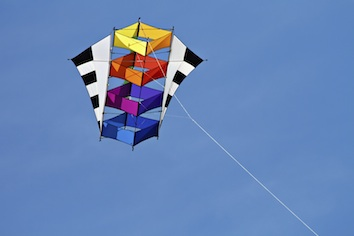 This is a box kite. Lawrence Hargrave invented the first one. ©Getty