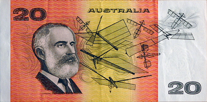 Hargrave, and his box-kites, are engraved on every Australian $20 note