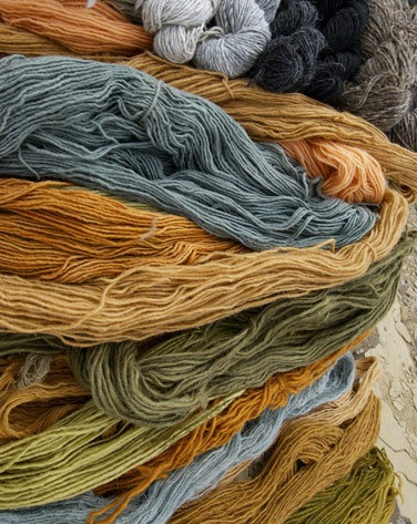 Plant, or natural, dyed yarns ©Getty Images