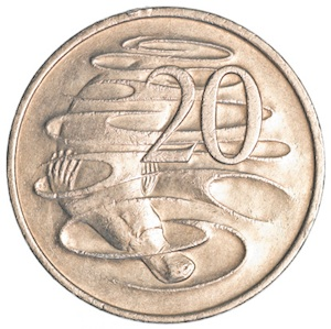 The platypus is on one side of the Australian 20c coin. ©Getty Images