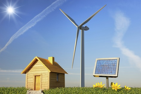 Renewable energy comes from the sun, the wind, from water and from plants. Getty Images