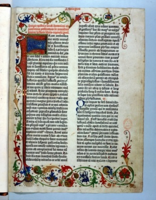 A page from Gutenberg's Bible. © Getty Images
