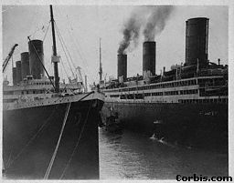 Ocean liners switched to using oil in 1910