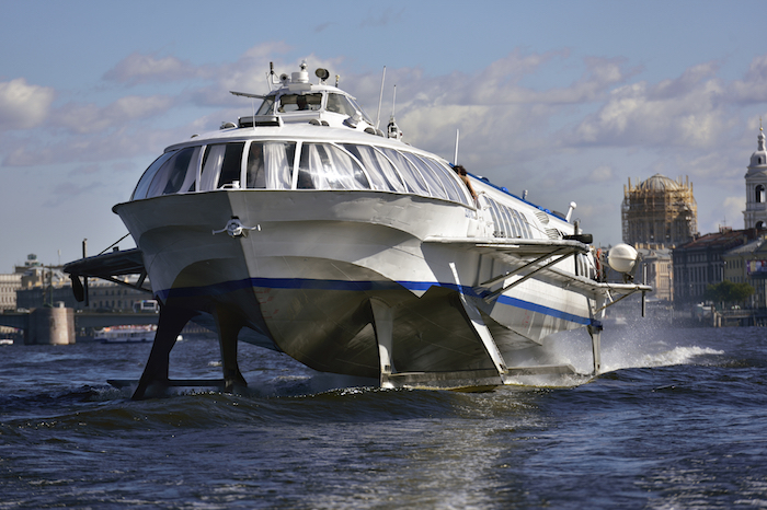 Hydrofoils are mostly used as ferries or water taxis. Getty
