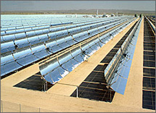 An array of PV panels at a solar farm. Getty Images