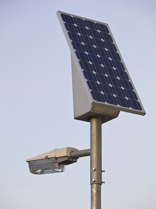Some street lights are solar powered.  Getty