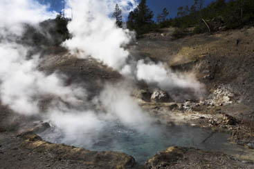 Steam and hot water from inside the Earth can be used to make electricity.