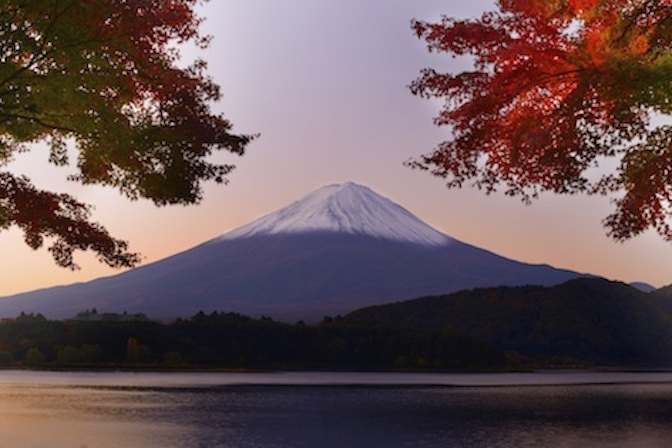 Mt Fuji at dawn. Getty Images