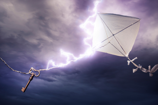 Never fly a kite in a thunderstorm! © Getty Images