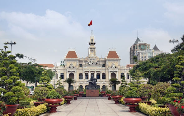 Ho Chi Minh City Hall, a fine example of French architecture that can be seen in Vietnam still.  ©Getty Images