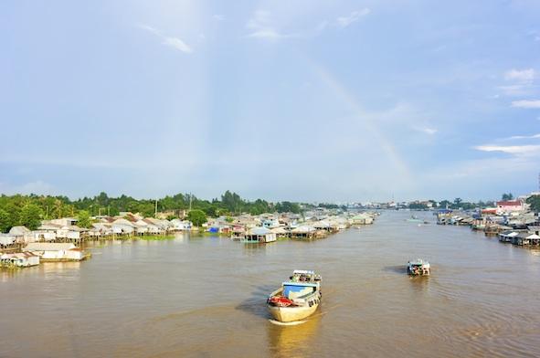Floating village, Mekong Delta. Image©iStock