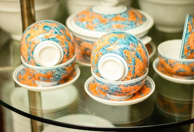 Ceramic bowls made in Bat Trang village, famous for the fine ceramics it has produced for hundreds of years. Image©iStock