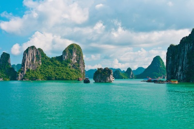 Rock islands in Halong Bay. Photo©iStock