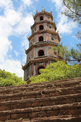 The tower at Thien Mu Pagoda, Hue. Photo©kidcyber