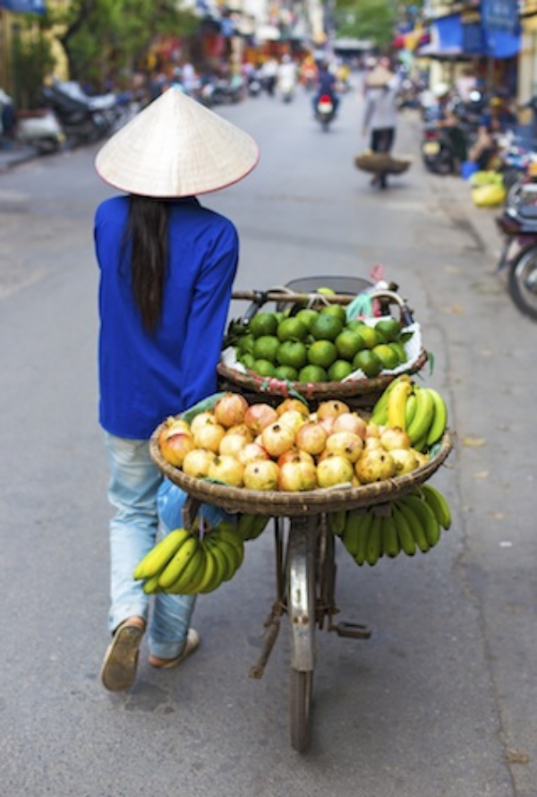 Selling fruit and vegies on a Hanoi street. Photo©iStock