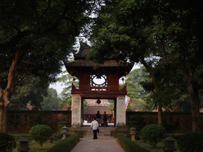 Entrance to the Temple of Literature in Hanoi. ©kidcyber
