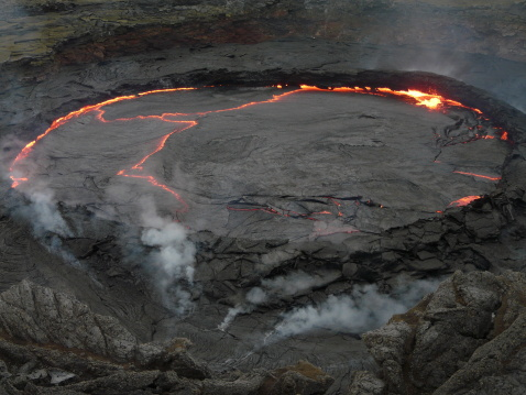 Erta Ale is a shield volcano in Ethiopia (Africa) Getty Images
