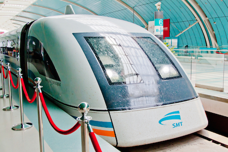 Maglev train travel at very high speeds. © Getty Images