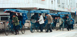 Rickshaws, once common, are now mainly for tourists. Photo©kidcyber