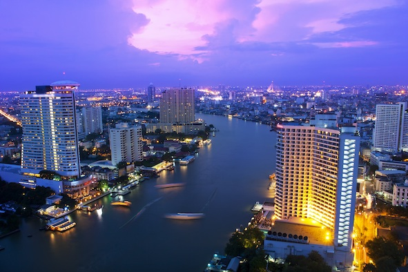 The Chao Phraya River flows through Bangkok, Thailand's capital City. Getty Images