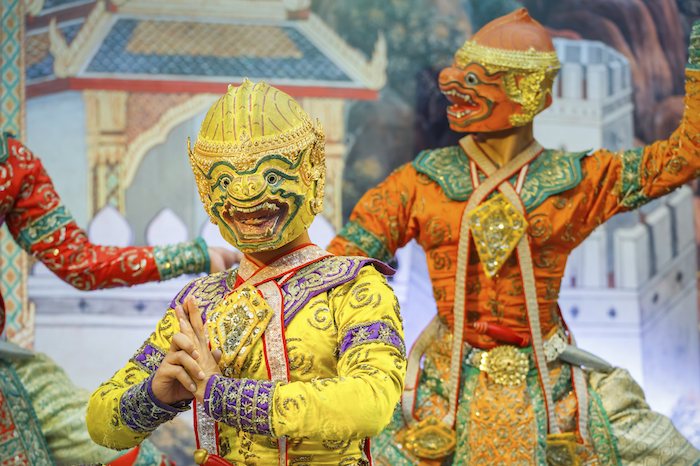 Two Khon demons in a performance. Getty Images