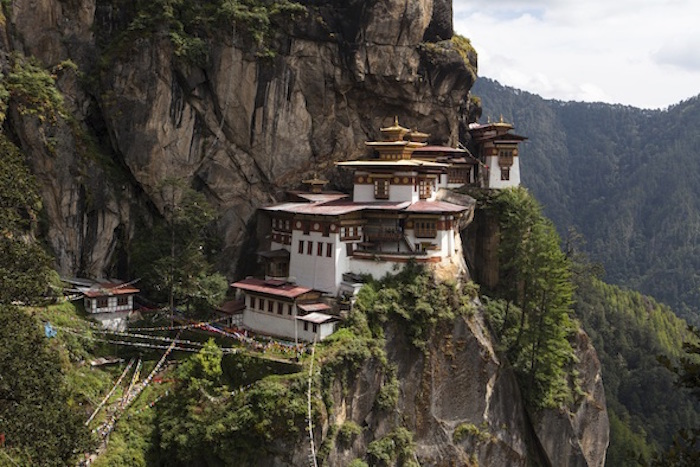 A Buddhist monastery on a mountain in Bhutan. Getty Images
